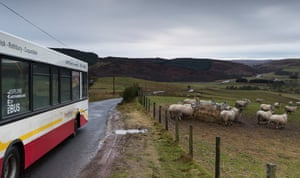 The Coquetdale circular bus route running through rural Northumberland from Rothbury.