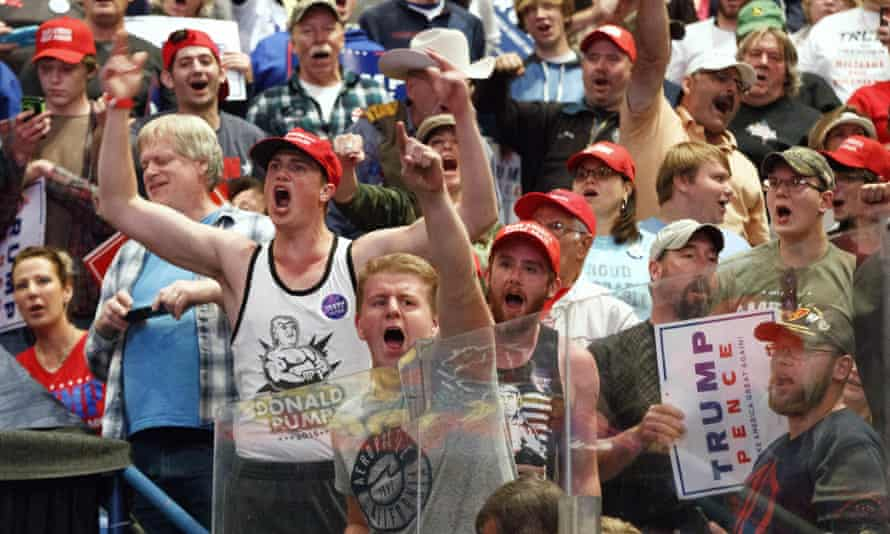 Supporters cheer for Republican presidential candidate Donald Trump during a rally last year.