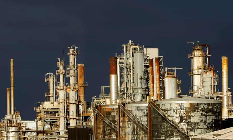 File photo of the ExxonMobil oil refinery at Altona in Melbourne, Australia