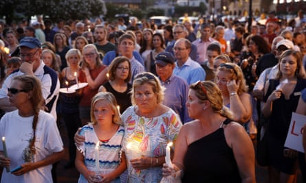 A vigil for the shooting at the Capital Gazette newsroom in Maryland.