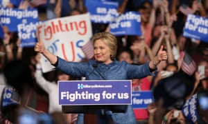 US Democratic presidential candidate Hillary Clinton