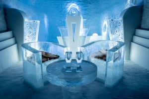 Once Upon a Time  suite in the ice hotel
