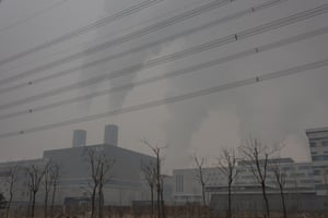 A general view of Gaoantun Garbage Burning Plant, which is the main garbage burning facility in Beijing