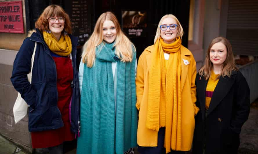 Manchester WI members from left: Verity Longley, Megan Price, Melissa Surgey and Katie Paddock.