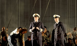 'An unconvincing enigma' Toby Spence (centre) as Captain Edward Fairfax Vere, with Thomas Oliemans (right) as Mr Redburn