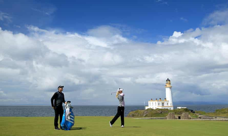 Anna Nordqvist of Sweden on the ninth hole at Turnberry during the 2015 Women's British Open.