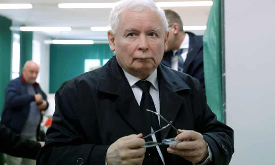Jaroslaw Kaczyński, the leader of the ruling Law and Justice party.