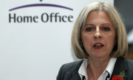 As home secretary in 2010, Theresa May immediately set about making a dent in the net migration number. Photograph: Dan Kitwood/Getty Images