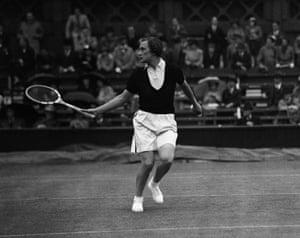 Tennis Fashion: Helen Jacobs at Wimbledon in June 1936