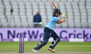 Bairstow hits out on his way to another century for England in Manchester on Wednesday.