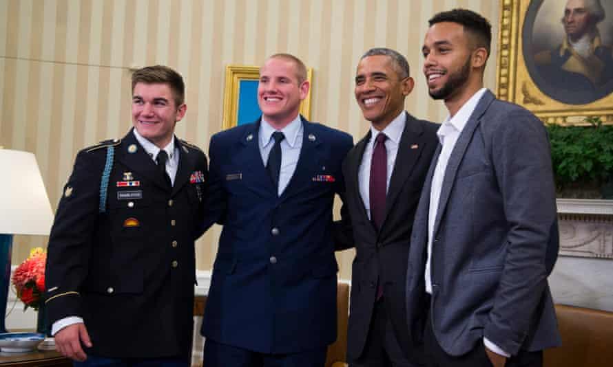 Meeting Barack Obama in September 2015.