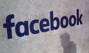 Facebook logo in Paris.