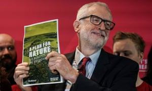 Labour leader Jeremy Corbyn at the launch of Labours's climate emergency manifesto.