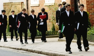 Pupils walking to lessons at Eton College.