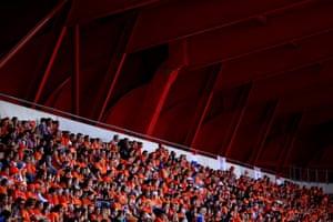 Dutch fans at Stade du Hainaut.