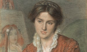 Marie Spartali Stillman by Ford Madox Brown … she was an accomplished painter in her own right.