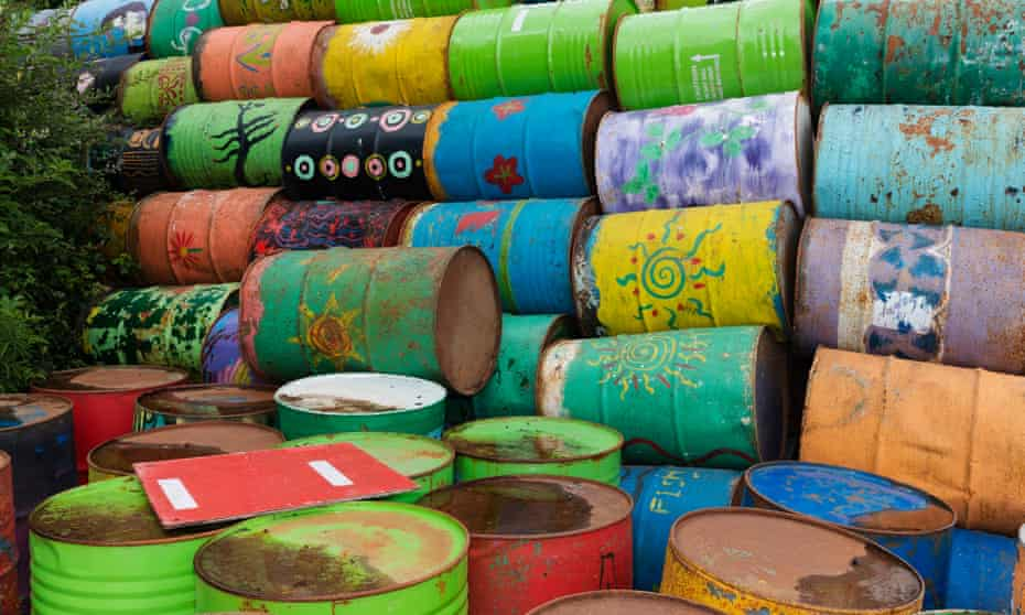 Some of the 12,00 bins that are repainted each year, but not in 2020