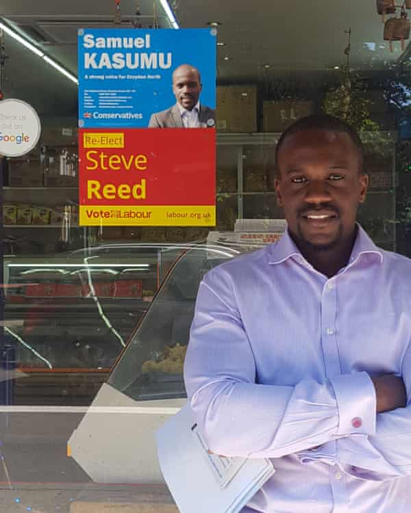 Kasumu was the Conservative candidate in Croydon North in the 2017 general election. He finishied second behind Labour's Steve Reed