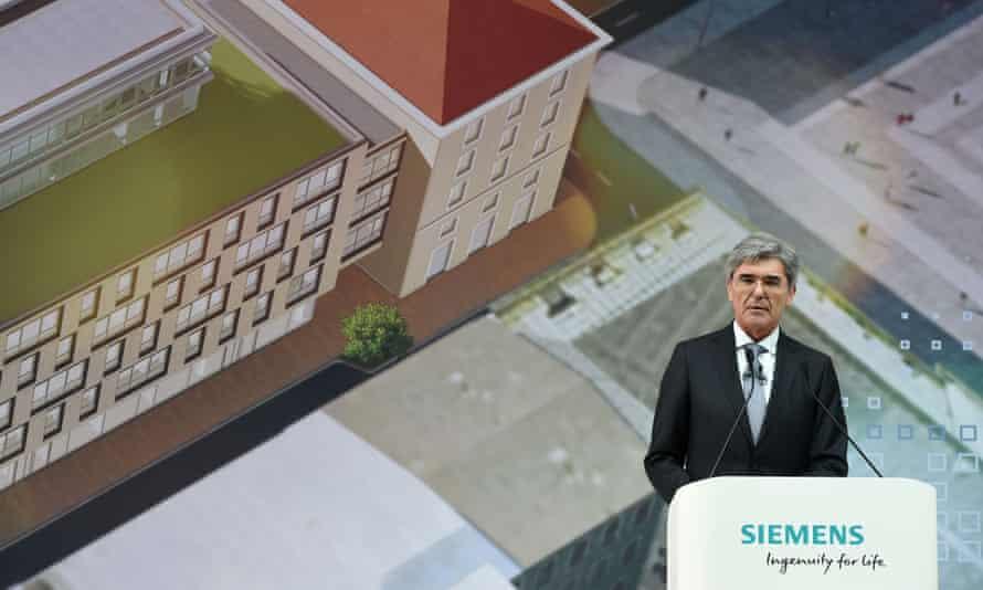 Joe Kaeser, chief executive of Siemens