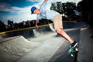 A young skater is doing tricks on his skateboard. Denmark 2012. (Photo by: PYMCA/UIG via Getty Images)