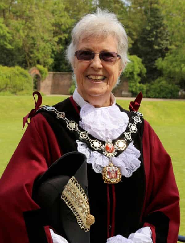 Mona Adams as deputy mayor of Richmond, in south-west London