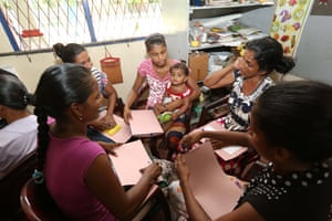women participate in a three-day training session for community members at Iranawila village, in Puttalam district