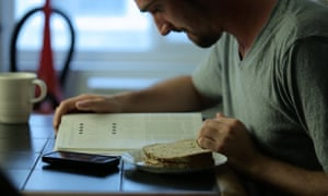Matt Sciamanna studying.