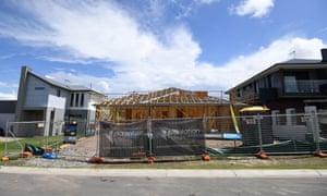 New home construction in Mango Hill, north Brisbane.