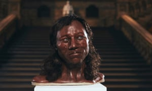 A forensic reconstruction of Cheddar Man's head, based on the new DNA evidence and his fossilised skeleton.