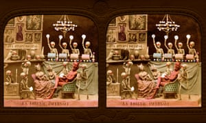 The Diableries cards are part of Queen guitarist Brian May's archive of stereoscopic items.
