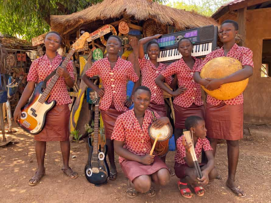 'When we play, everyone dances' ... Star Feminine Band before a live show.
