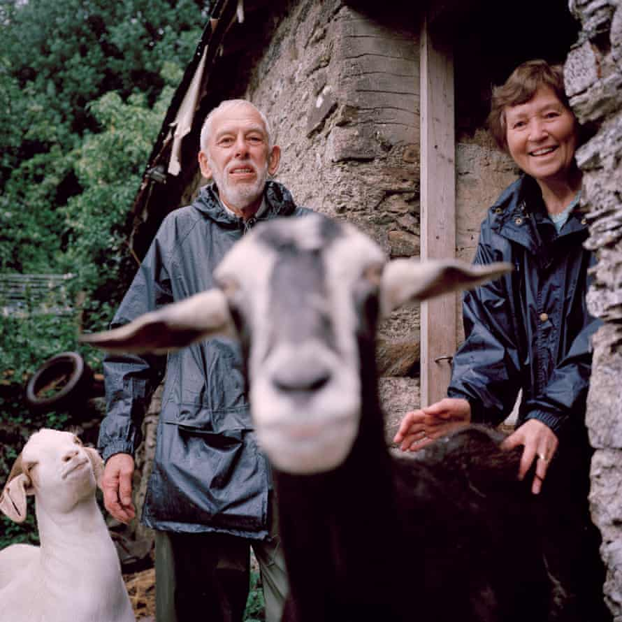Eric and Joyce Salter with two goats