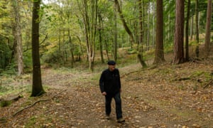 Drew Pratten, of Forest of Dean Wild Boar Cull Saboteurs, in the Forest of Dean.