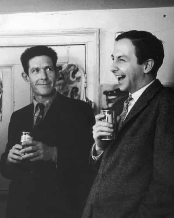 Rauschenberg with composer John Cage in New York