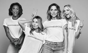 The Spice Girls wearing their charity T-shirts