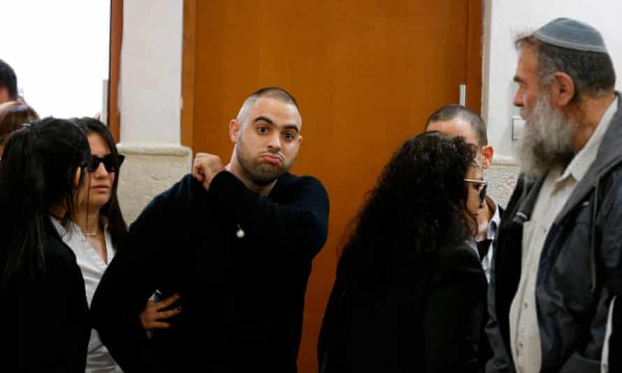 Israeli police officer Ben Deri at court in Jerusalem
