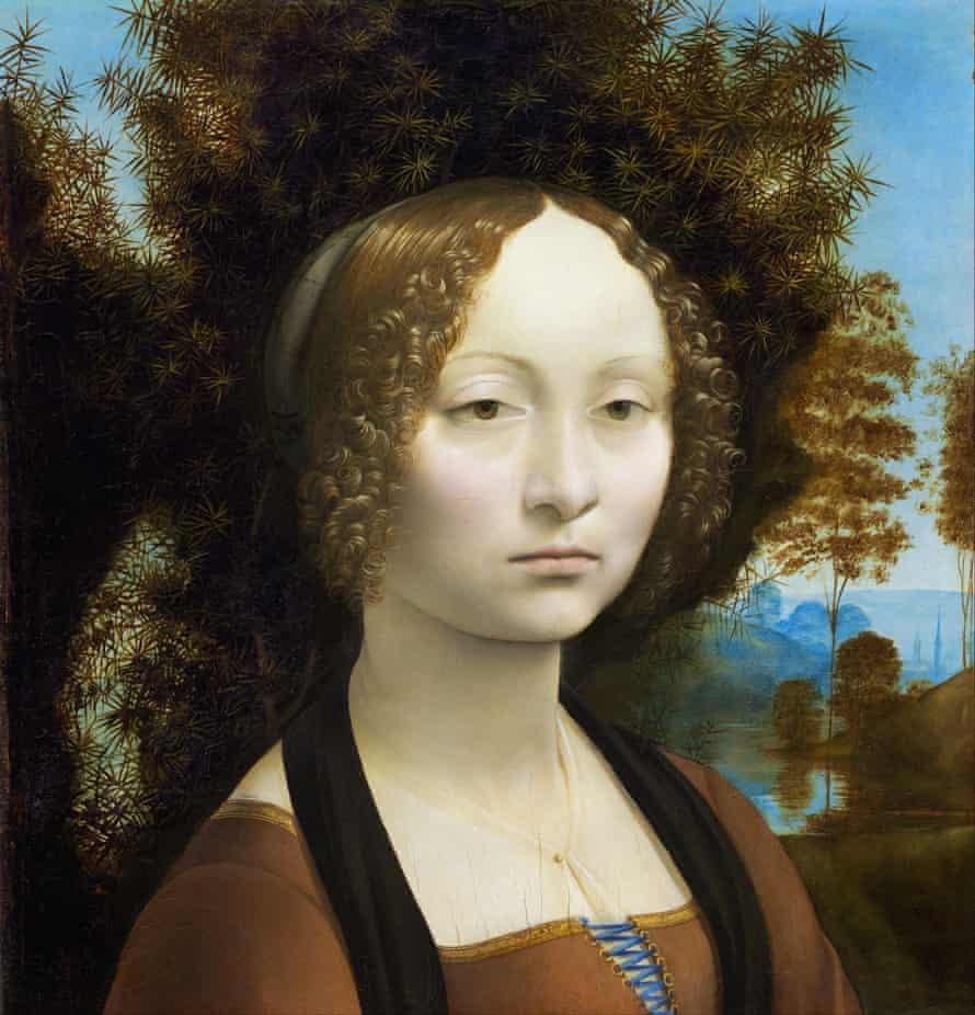 Ginevra de' Benci, 1474-78  by Leonardo da Vinci