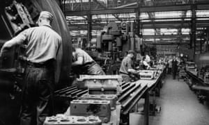 March of the makers … Ford Motor Company factory in Dagenham, 1956.