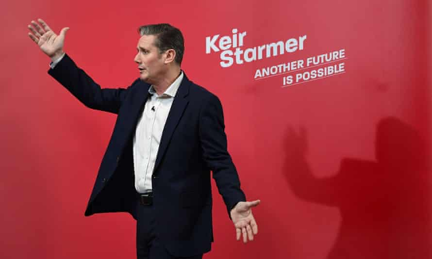 Keir Starmer during the Labour leadership campaign