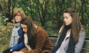 Siobhan Finneran, left, with Molly Wright and Sasha Parkinson in Apostasy