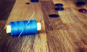Needle, thread and buttons