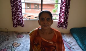 Geetaben Thakore in her new apartment.