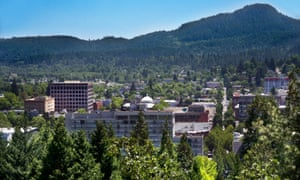Aerial of Eugene Oregon