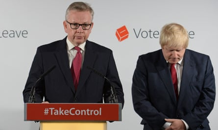 Michael Gove and Boris Johnson the day after the Brexit vote.