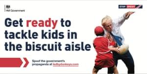 Boris Johnson knocking a child to the ground.
