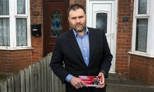 Sion Simon, the Labour candidate for West Midland mayor, campaigning in Smethwick.