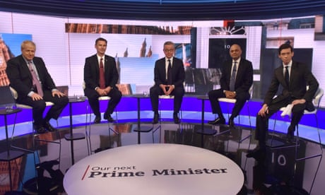 Tory leadership candidates rule out pre-Brexit election in BBC debate – as it happened