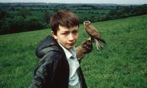David Bradley as 15-year-old Billy Casper with his kestrel in Kes (1969).