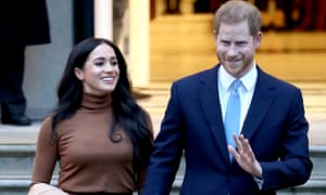 Prince Harry and Meghan, Duchess of Sussex, in London on 7 January.