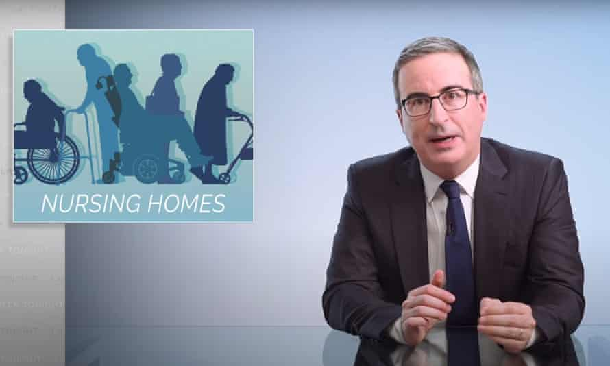 """John Oliver on nursing homes: """"Covid has just exposed what we've basically known for years – that the way the elderly and disabled are treated at far too many of these facilities is, at best, indifference, and at worst, abuse and neglect."""""""